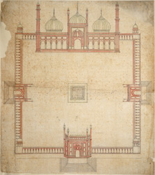 Ground plan of the Jami Masjid, Delhi
